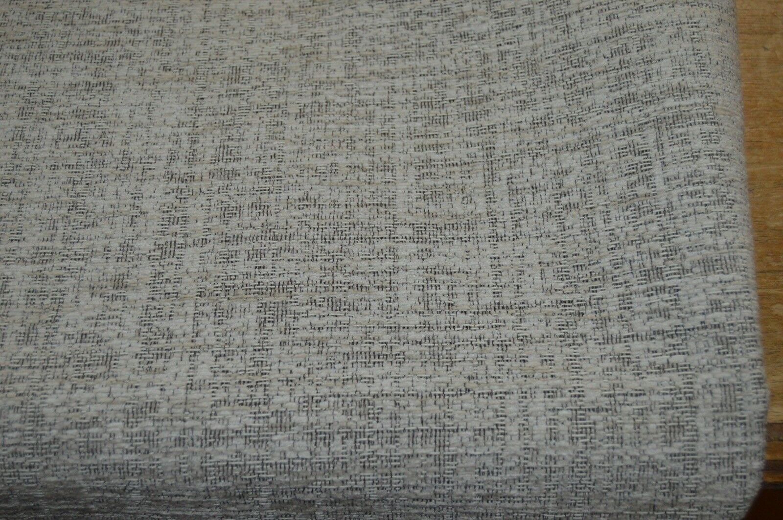 cream black fleck upholstery fabric chenille sofa caravan ...