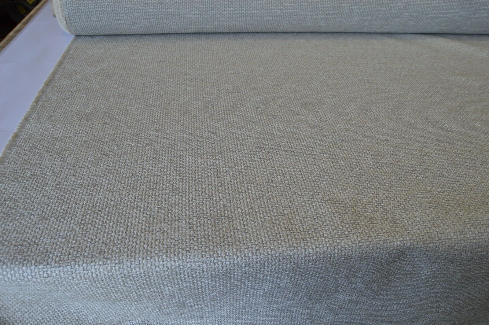 Grey textured upholstery sofa bed caravan curtain cushion fabric sold by meter