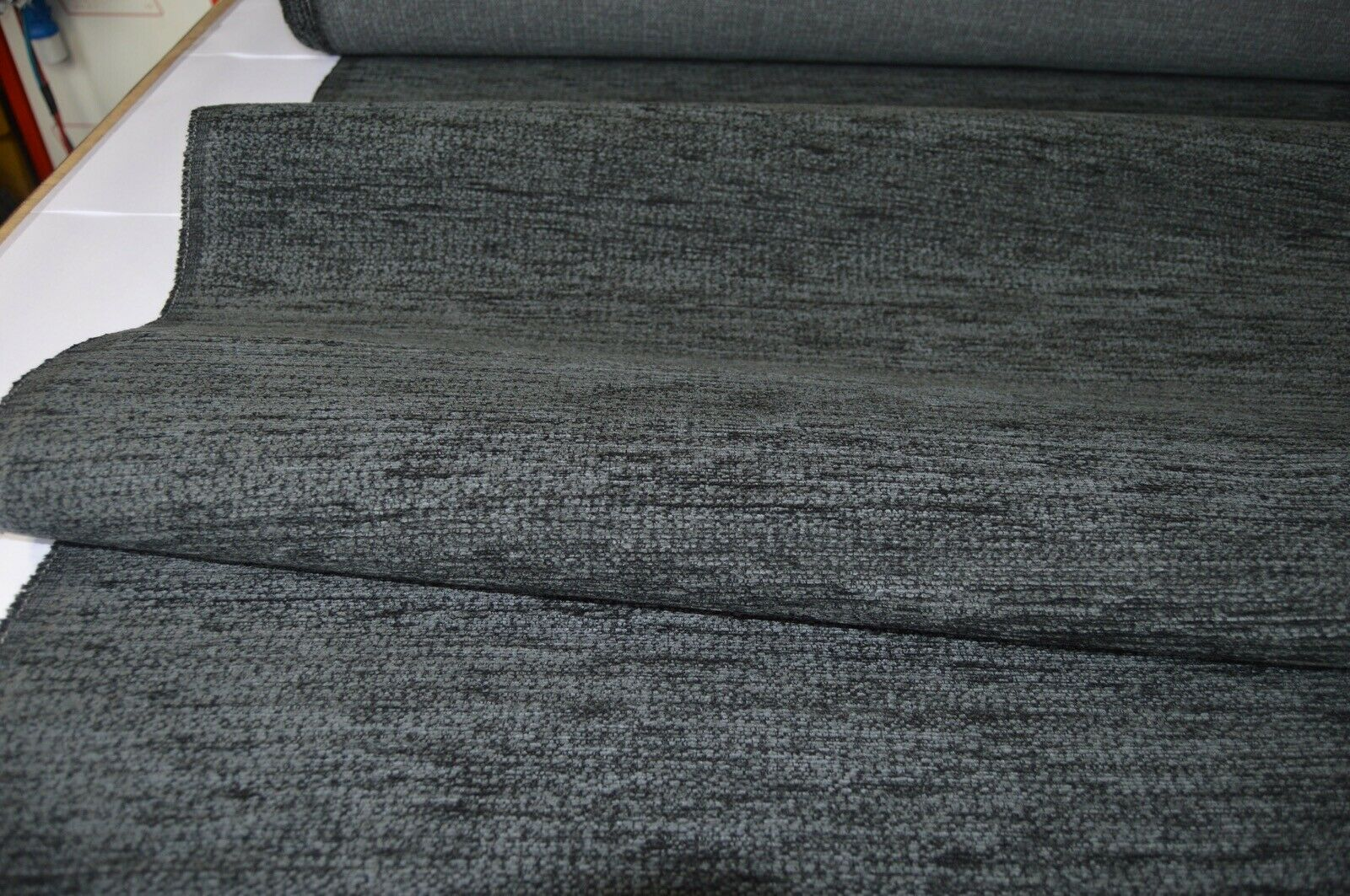 grey charcoal chenille upholstery fabric ideal for sofa ...