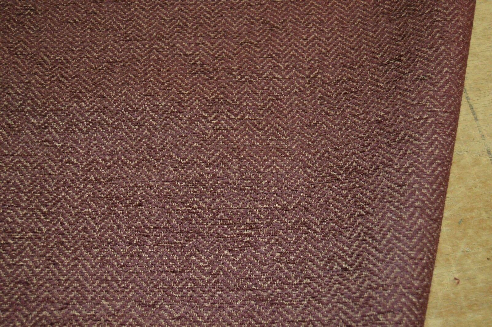 burgundy plum chenille upholstery fabric herringbone ...