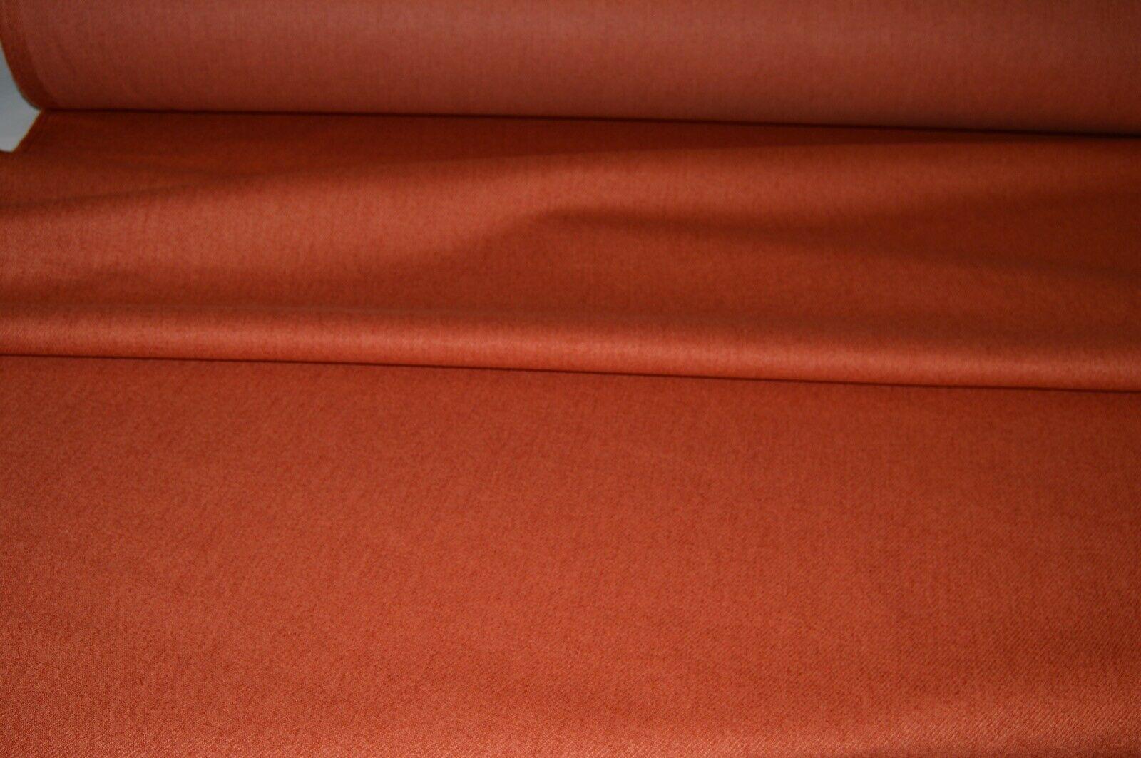 Cushion Fabric Caravan Burnt Orange//Green//Cream Check Chenille Upholstery